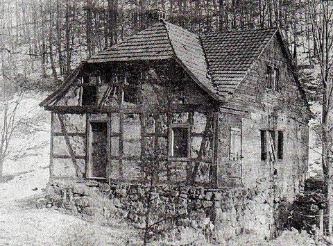 Obere Steinbacher Schleifkotte kurz vor dem Abriss - Sammlung Mario Döhrer