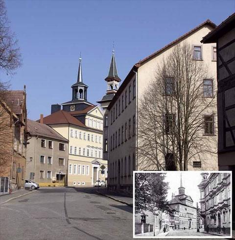 Stammhaus von Wachenfeld & Gumprich in Schmalkalden, kleines Foto um 1940 - gesendet von Roland Daigorat