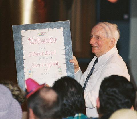 Albert wurde 1993 Ehrenmitglied des SCC - Foto Bodenstein