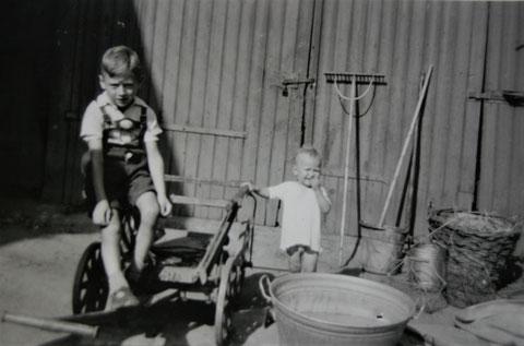 Hans Schreiner links und Kurt Trautvetter