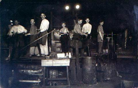 Arbeiter im Neuwelzower Thomaswerk