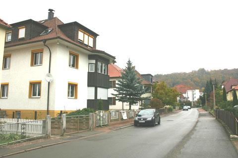 Villa Karl Heller mit Burgberg im Hintergrund - Aufnahme Oktober 2013