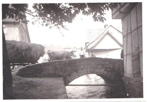 Schweinaer Schulbrücke 1910 gepostet 2013 von Elfriede Mosebach - wahrscheinlich ihr Vater Richard Danz
