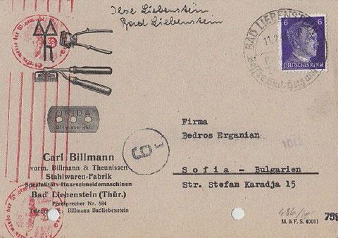 Brief von 1943 - Repro W.Malek