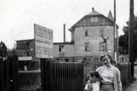 Tolles Bild in Höhe des Bahnüberganges auf die Villa Rommel gerichtet - vermutlich bei facebook gepostet...