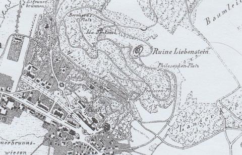 Ausschnitt aus Karte Verschönerungsverein von 1878