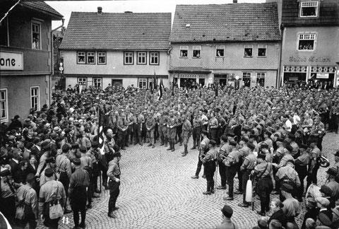 Marktplatz Schweina um 1937 - Archiv Foto Bodenstein