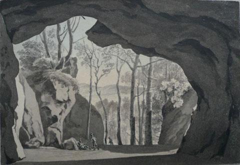 Repro Hohle Scheuer nach W.A.Thierry um 1800