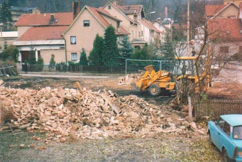Abriß der Schuhmacherei Eduard Hartmann 1991 - Sammlung Fuhrmann