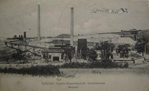 Ansichtskarte von 1908, Blick auf das Bergwerk in Richtung Nord -  - Archiv W.Malek