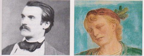 Maler Heinrich Spieß im Lüftel dargestellt