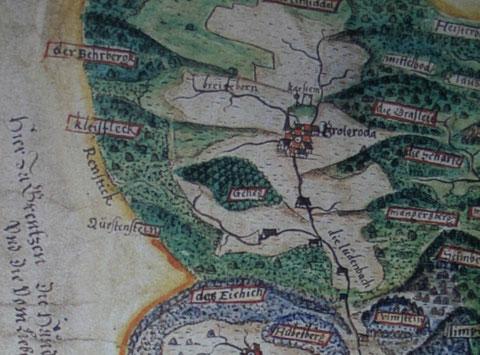 Karte von 1589