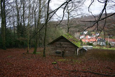 In etwa Standort der ehemaligen Schönen Aussicht - Dezember 2013