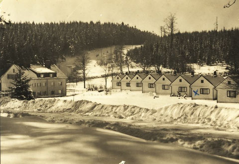Ansichtskarte bei guter Schneelage zu DDR-Zeiten - Sammlung Regina Schlothauer