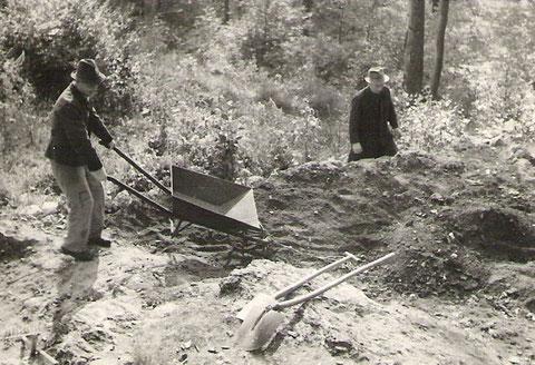 Arbeitseinsatz Blockhütte 1951 -Archiv Horst Schneider