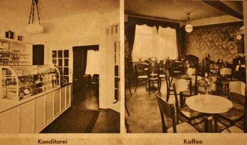 Konditorei und Kaffee Aschenbach um 1930 - Archiv C.Roensch