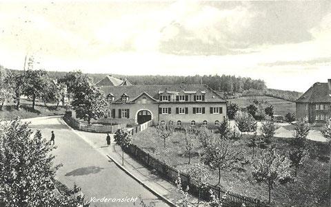 Eingangsbereich von der damaligen Fröbelstraße fotografiert  - Archiv - W.Malek