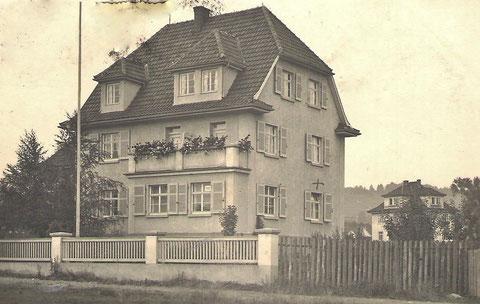 Birkenhaus 1937, in dem später Otto Scharfenberg mit Familie wohnte
