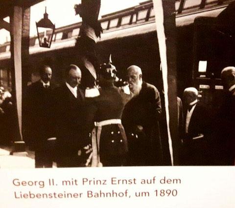 Eventuell die Einweihung des Liebensteiner Bahnhofs 1888 ...