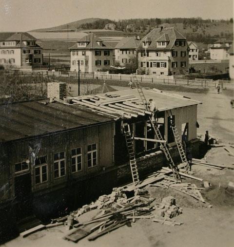 Turnhallenanbau - Aufnahme Pfingsten 1938