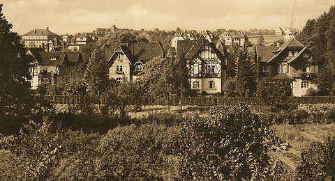 Villen in der Parkstraße - von links Leopold, Gertrud, Pfeifer & Belz