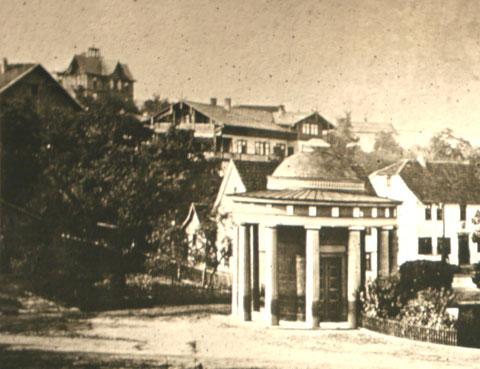 links oben Villa Frohberg, späteres Haus Am Aschenberg und dann auch Villa Belvedere  - Archiv W.Malek
