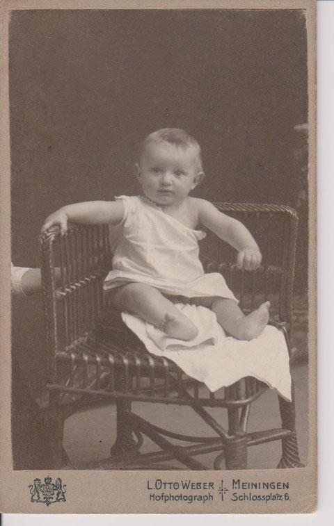 Hans Perlet als Baby - Quelle Dr. Henning Frank