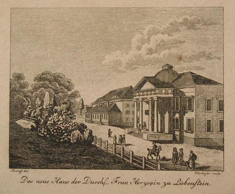 Zeichnung ( vor der Erweiterung der Flügel) - Archiv W.Malek