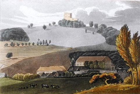 Fischern'sches Schloss, Langer Bau links darunter - Archiv V.Henning