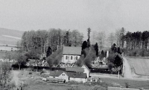 Friedhof und Totenwärterhaus 1970ger - Sammlung Jörg Bodenstein