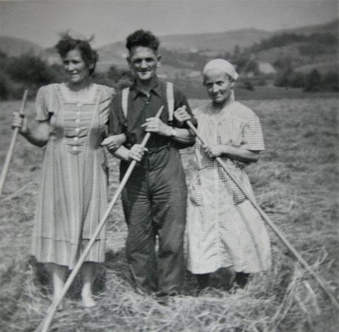 Elli Trautvetter, Helmut Göpfert und Else Kaiser