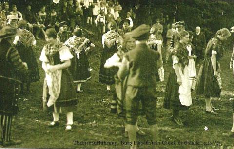 Aufführung an der Burg 1926/27 - Archiv Werner Müller