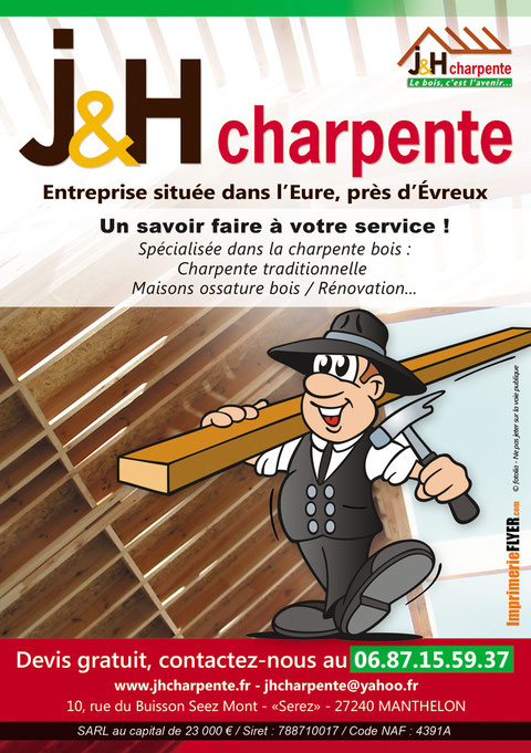 J&H Charpente : charpentier, evreux, eure