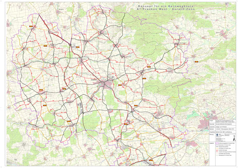 Kernwegenetzkonzept in der Kommunalen Allianz A7 Franken West