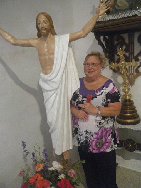 Mari y el Cristo de la Puebla 2013.