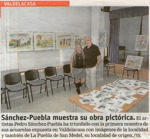 Exposición de Pedro en Valdelacasa. Año2010.