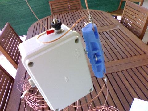 Waterproof box 6:1 trasformer's, and wire antenna in phosphorus bronze