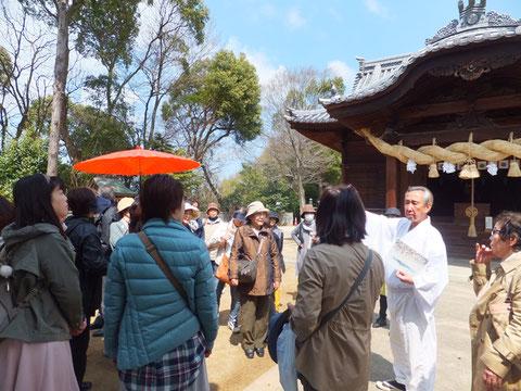 松山神社の宮司さんのお話