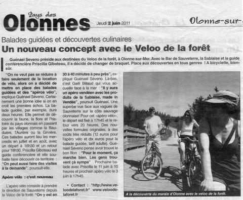 Journal des Sables 2/06/2011