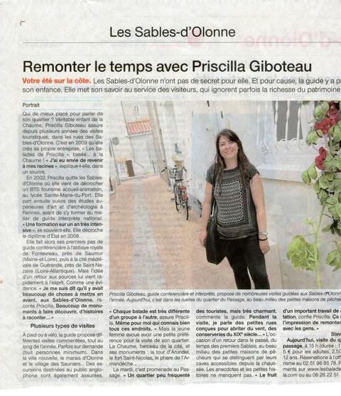 Ouest France 30 Juillet 2013