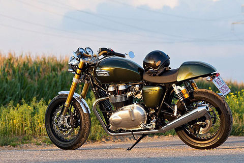 Triumph Thruxton Cafe Racer by LSL - Mr. Hudson