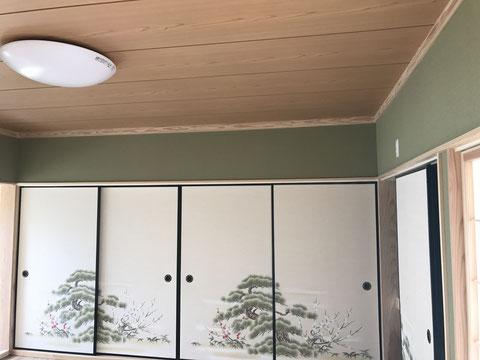 和室の畳・壁・襖・天井を改修