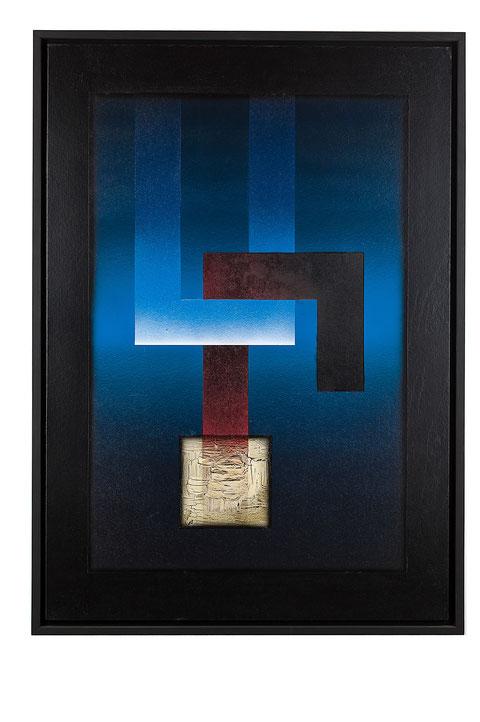 Il sacrificio di Isacco, tecnica mista su cartone, anno 2010, cm 100,5 x 70,5