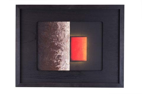 perì physeos v/8/02, tecnica mista su tavola lignea, anno 2008, cm 40 x 30