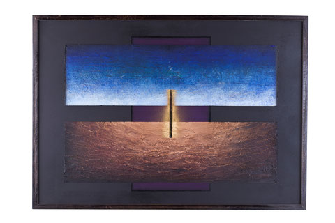Crocifissione, tecnica mista su cartone, anno 2009, cm 70 x 100