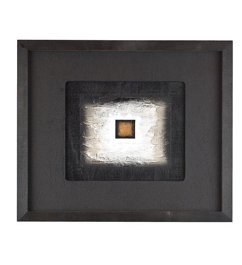 perì physeos v/7/01, tecnica mista su tavola lignea, anno 2007, cm 30 x 25