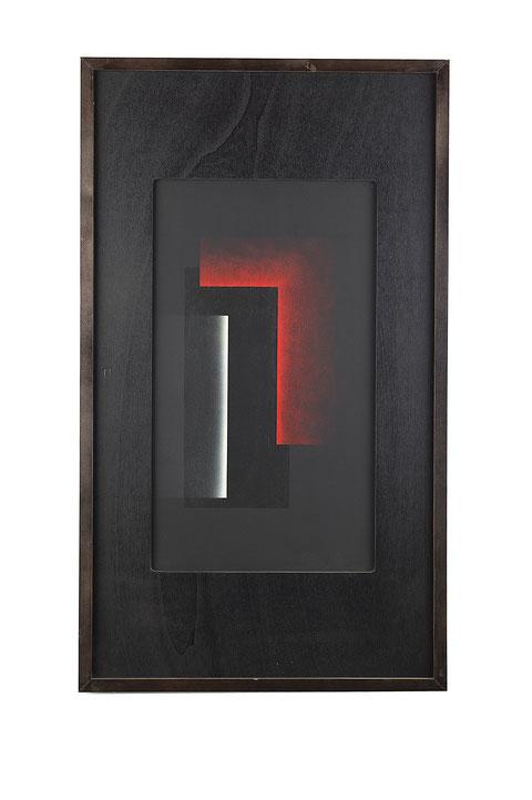 Il Cieco di Gerico, tecnica mista su tavola lignea, anno 2009, cm 63,5 x 37