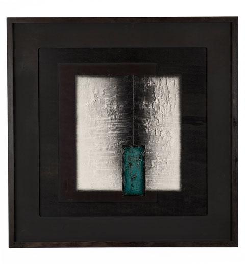 Martirio di Santo Stefano, tecnica mista su tavola lignea, anno 2010, cm 66,5 x 66,5