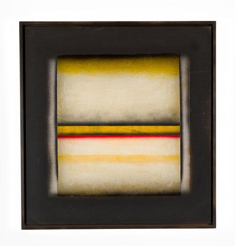 perì physeos y 91, tecnica mista su tavola lignea, anno 2003, cm 63,5 x 59,5