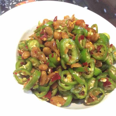 銅仁のホテルの朝食で出会った「水豆豉」
